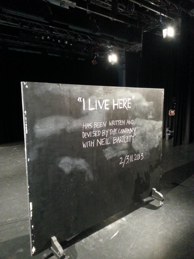 DIY10: Neil Bartlett - 'I Live Here'
