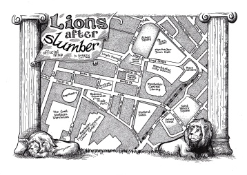 Lions After Slumber Team Map llustration by Robert Brown